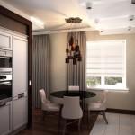Плотные серые портьеры для проекта дизайна интерьера от салона Декория
