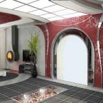 Текстиль от салона Декория, изготовленный под заказ для уникального дизайна интерьера в современном стиле,