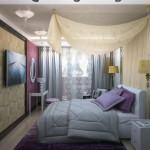 Проект текстиля для спальни в Челябинске от салона штор Декория