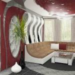 Уникальный дизайн интерьера, в современном стиле, шторы, декоративные подушки и прочий текстиль, пошитый для него от салона штор Декория