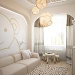 Ненавязчивые светло-серые шторы для дизайна детской, от салона Декория