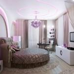 Спальня в экзотическом стиле современного дизайна, и текстиль, изготовленный под заказ, от салона штор Декория
