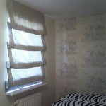 В спальню и не только, полупрозрачные белы шторы в римском стиле от салона Декория