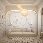 Текстиль для светлой детской в современном стиле от салона Декория