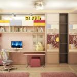 Подушки, шторы, балдахин и прочий текстиль для дизайн-проекта детской спальни для девочек от салона штор Декория