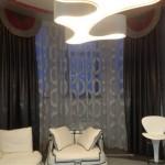 Цветовая гамма материалов подобрана специально под дизайн интерьера, разработанный совместно с салоном штор Декория