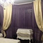 Оригинальные шторы коричневые с золотым в классическом стиле от салона штор Декория на заказ в Челябинске