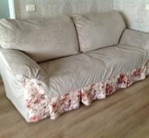 Чехол на диван с уникальным дизайном от салона Декория