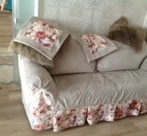 Чехол на диван из любой ткани от салона Декория