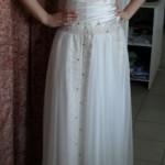 Пошив одежды от трикотажном ателье Декория, платье в пол белое