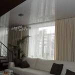 Белые теневые шторы, для гостиной под заказ от салона штор Декория