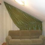 Зеленые шторы из тафты высокого качества,под заказ от салона штор Декория