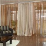 Необычные шторы для современной гостинной, белые теневые, тюль из органзы, под заказ от салона штор Декория
