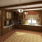 Дизайн-проект кухни, оригинальные шторы от салона штор и ателье Декория в Челябинске