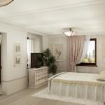 Текстильное оформление спальни в коттедже пос.Харлуши, под заказ от салона штор и ателье Декория