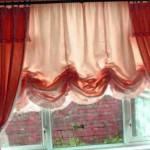 Банкетный зал, шторы австрийские красные. Салон штор Декория