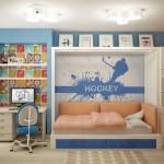 Текстиль для детской для мальчика под заказ от салона штор Декория, в проекте дизайна интерьера