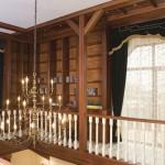 Тяжелые темные шторы с легким белым тюлем салона штор Декория