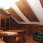 Коричневые теневые шторы на мансардные окна от салона штор Декория