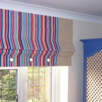 Шторы для кухни и гостиной в римском стиле. Полосатые, разноцветные. Салон штор Декория