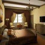 Дизайн-проект гостевой спальни на Тарасовке, портьеры, изготовленные под заказ от салона штор Декория