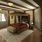 Балдахин, портьеры и прочий текстиль для спальни, изготовленный под заказ салоном штор Декория в Челябинске