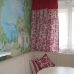 Яркий,расшитый бисером, текстиль, шторы и подушки, под заказ от салона штор Декория