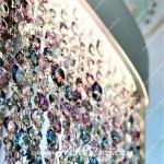 Разноцветные камни используются в изготовлении штор в салоне Декория