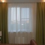 Оригинальный клетчатый тюль, теневые зеленые шторы, идеально подобранные под интерьер помещения в современном стиле, от салона Дкория